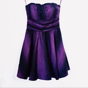 Betsey Johnson Purple Black Ombre Dress Sz 4